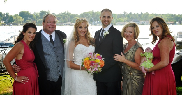 My family at our Wedding this June, Conneaut Lake, PA