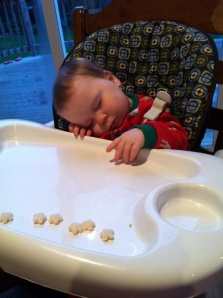 My niece Lilly, who fell asleep in the middle of dinner this week!!