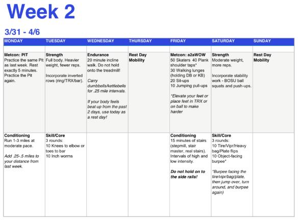 CMC week 2